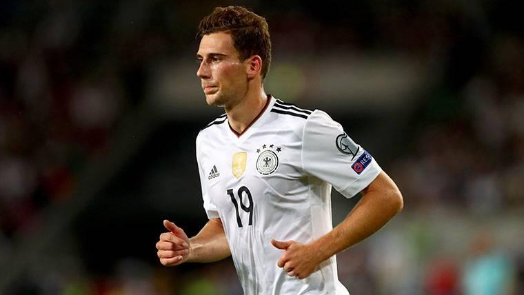 Goretzka, durante un partido con la selección de Alemania