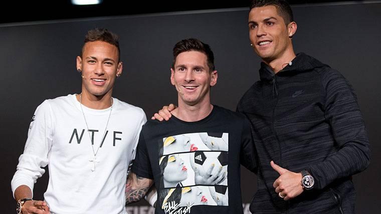 Messi, Neymar y Cristiano, los finalistas al FIFA The Best
