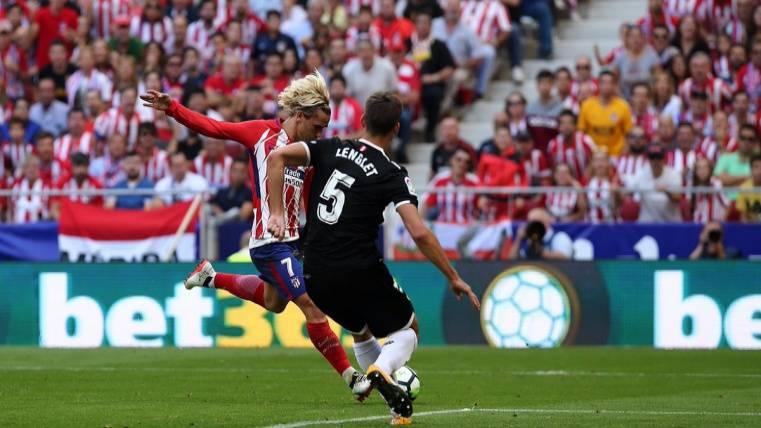 El Atlético de Madrid se coloca segundo tras ganar al Sevilla