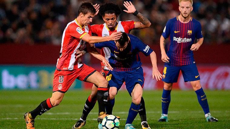 Un marcaje individual, la solución del Girona para Leo Messi