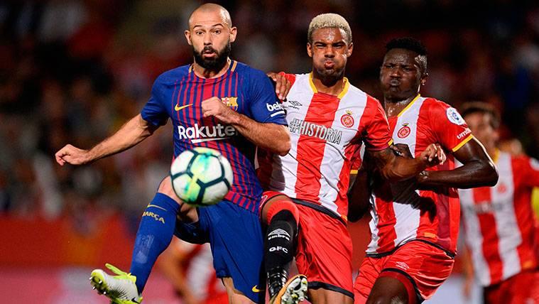 Mascherano, reforzado tras un buen partido en Girona