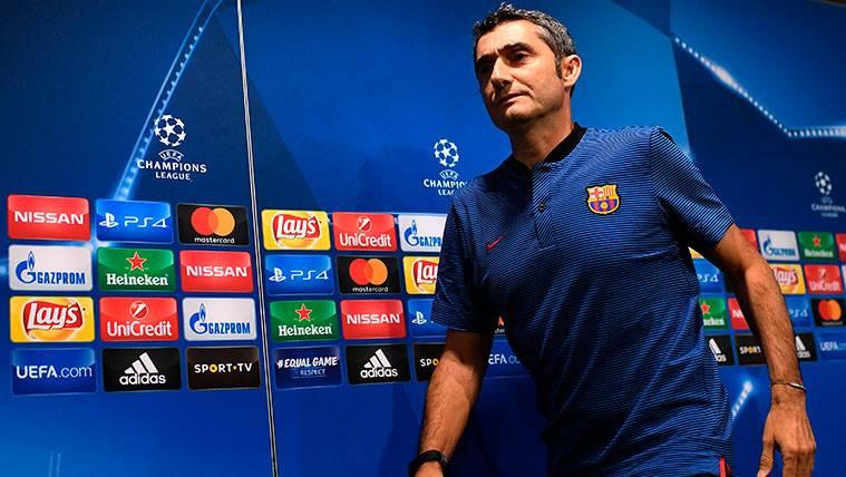 Valverde optó por el 4-4-2 contra el Sporting de Portugal