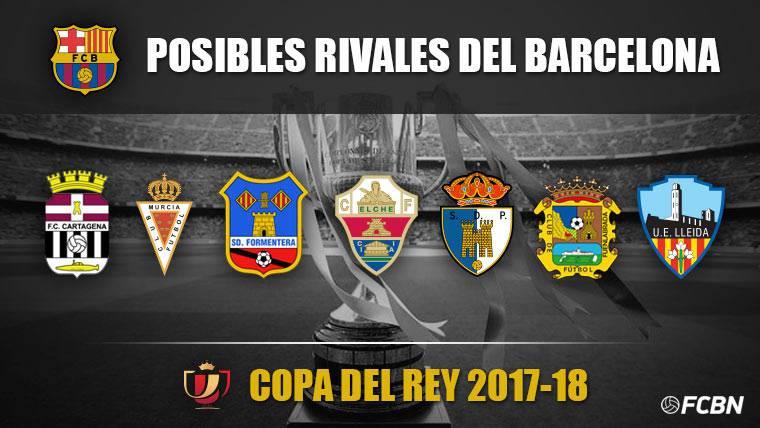 Los posibles rivales del Barça en el sorteo de Copa del Rey
