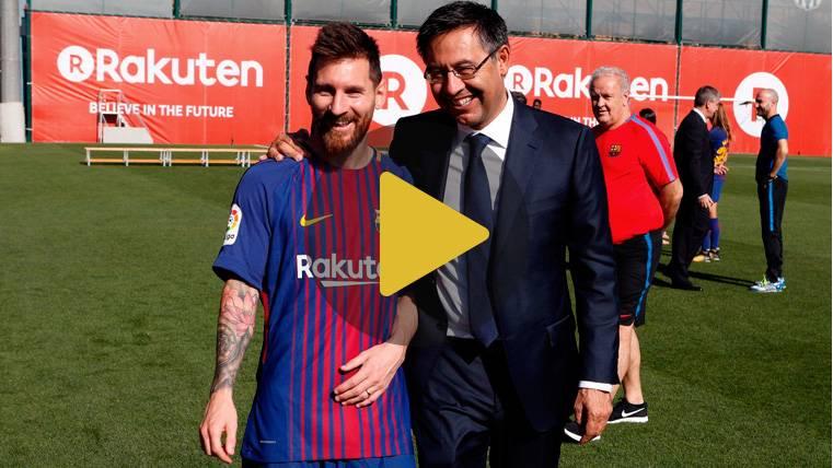 Bartomeu exhibe su buen rollo en la foto doble del Barça