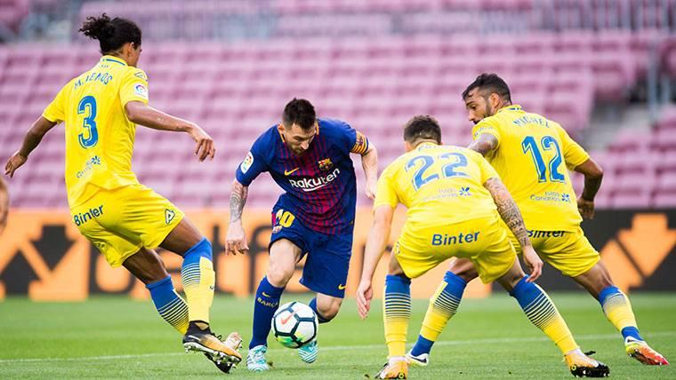 Doblete fabuloso de Messi para sentenciar a Las Palmas
