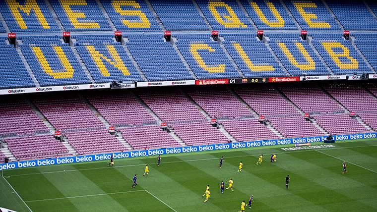 El Camp Nou, vacío contra la UD Las Palmas este pasado domingo