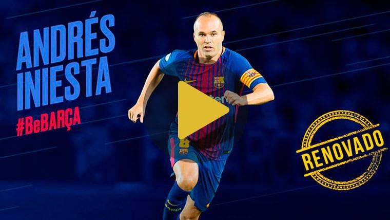 OFICIAL: ¡El Barça renueva de por vida a Andrés Iniesta!