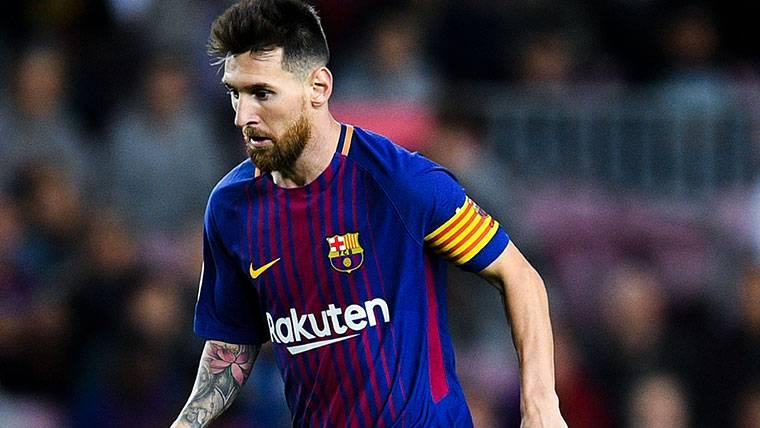 Leo Messi, durante un partido con el Barça esta temporada