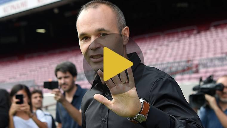 Así vivió Andrés Iniesta el día de su renovación con el Barça