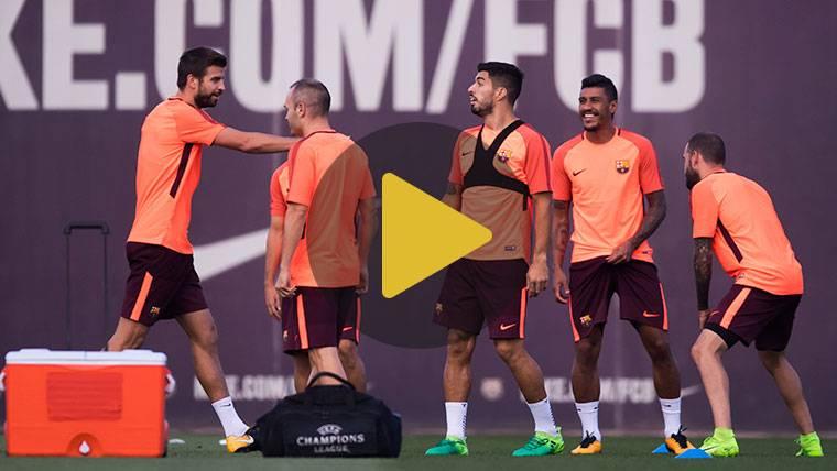 Gerard Piqué no se reincorporó este lunes con el Barcelona