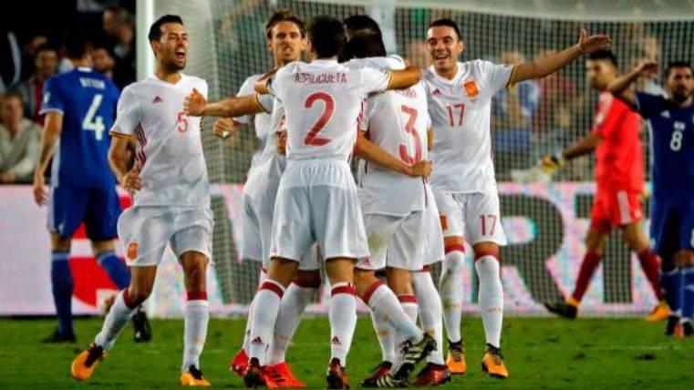 España acaba la clasificación para el Mundial con victoria