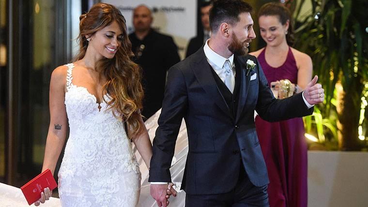 Antonella y Messi, durante el día de su boda este pasado verano
