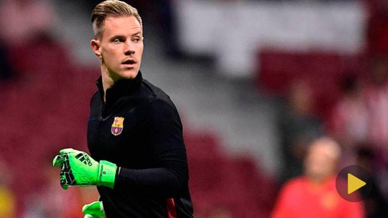 Ter Stegen, al máximo: Dos paradaspara aguantar al Barça