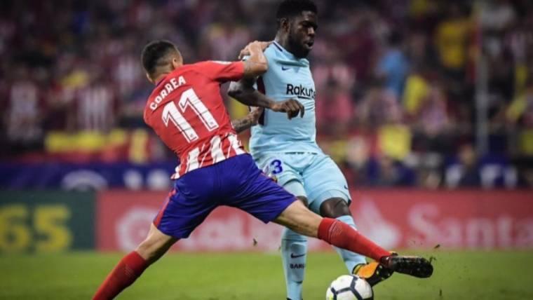 Samuel Umtiti, el mejor del Barcelona ante el Atlético