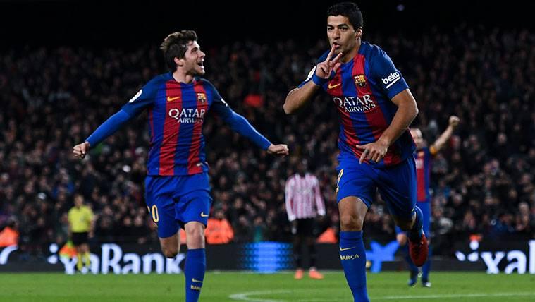 Sergi Roberto, el mejor socio del gol para Luis Suárez