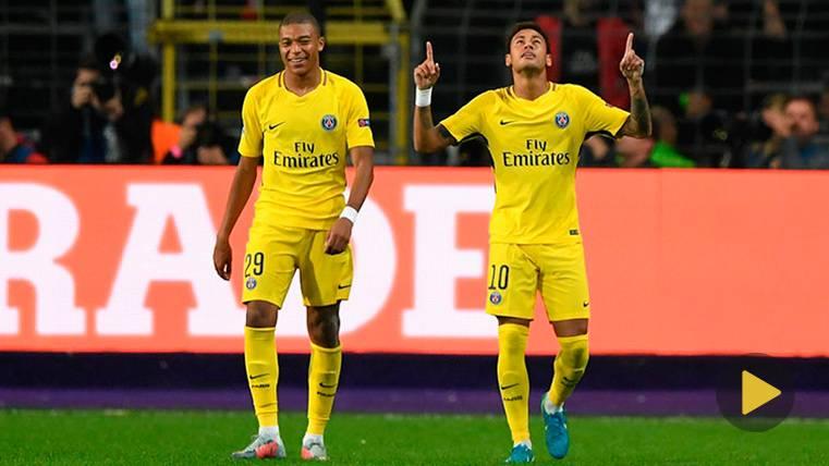 Neymar copia a Ronaldinho y el PSG asusta en Champions