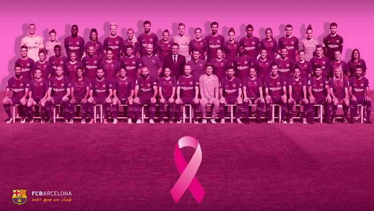 El Barça también se suma al rosa contra el cáncer de mama
