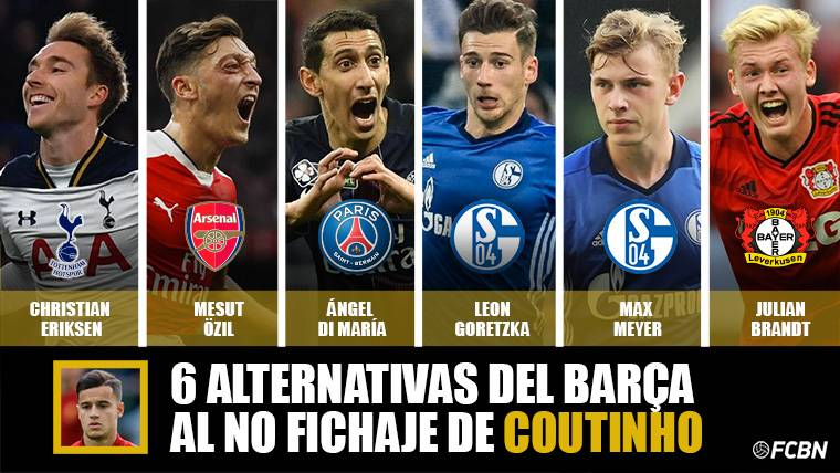 6 alternativas para el Barça si no logra el fichaje de Coutinho