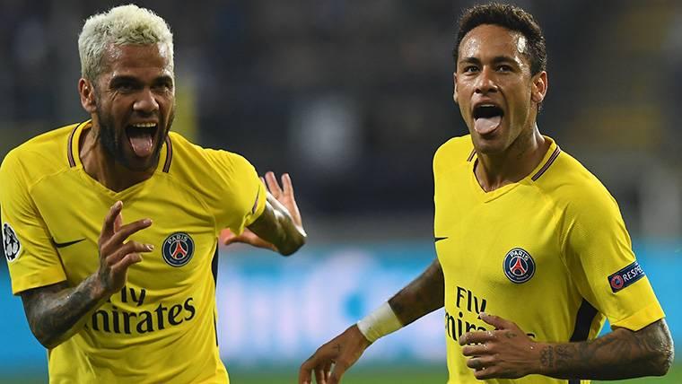 La charla de Alves con Neymar antes de que dejara el Barça