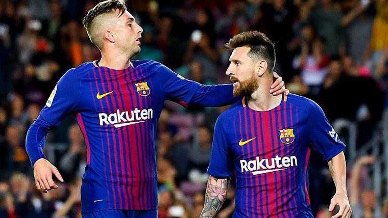 Gol polémico de Deulofeu para estrenarse en Liga con el Barça
