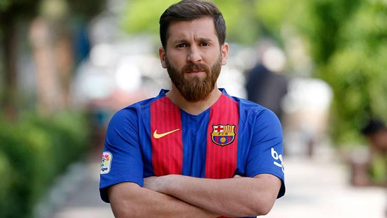 ¡El 'doble' de Messi estuvo en el Camp Nou para conocerle!