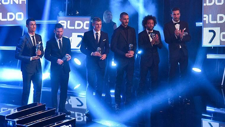 Todas las clasificaciones de las votaciones del FIFA The Best