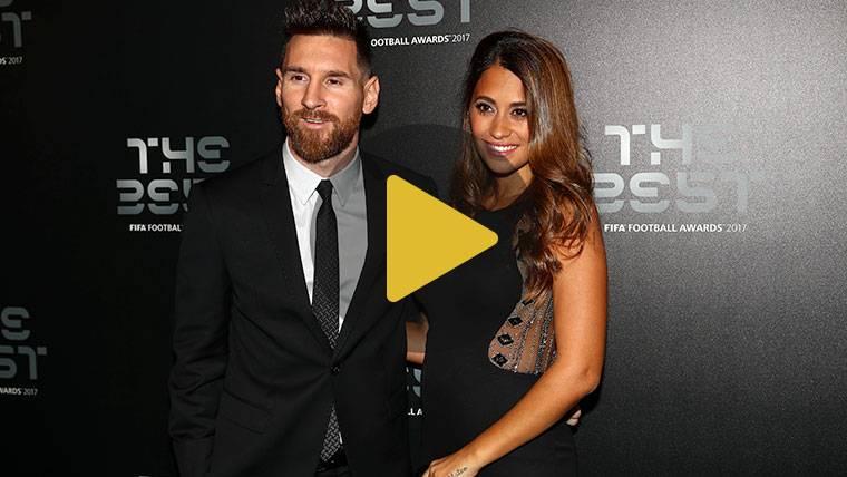 Messi y Antonella brillaron con luz propia en la gala The Best