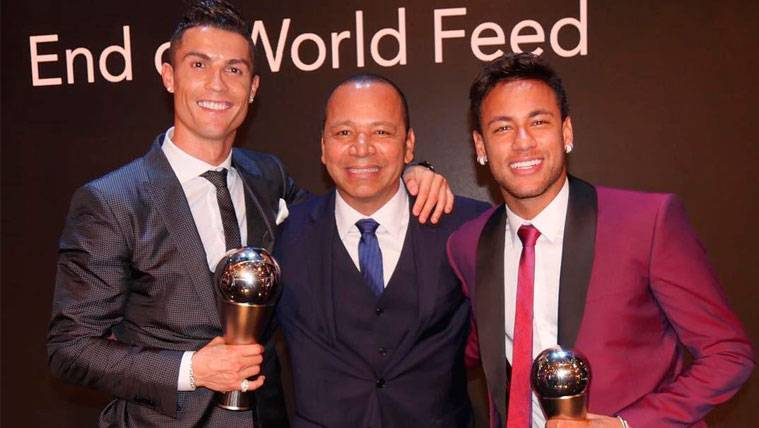 La historia de la foto de los Neymar con Cristiano Ronaldo