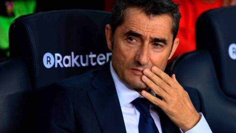 Ernesto Valverde, en el banquillo azulgrana