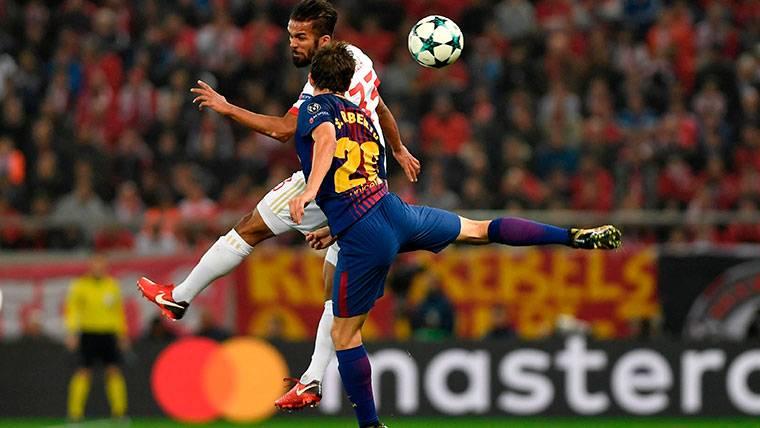 ALARMA: Sergi Roberto, lesionado en el Olympiacos-Barça