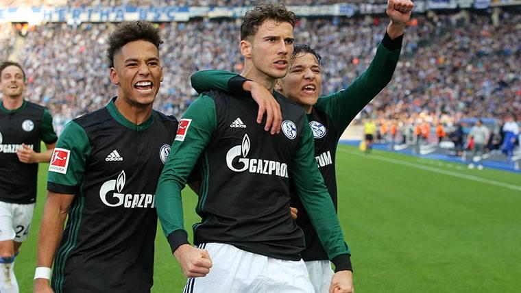 Leon Goretzka, durante un partido con el Schalke 04 esta temporada