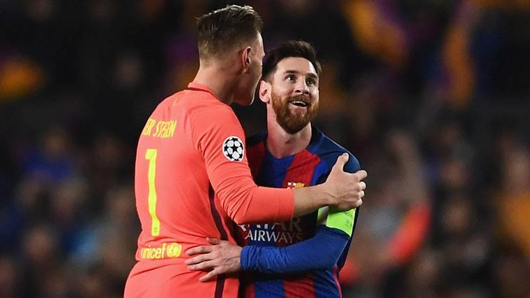 Ter Stegen evitó que el conflicto Messi-Luis Enrique fuera a más