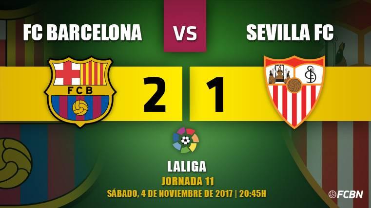 Crónica del FC Barcelona-Sevilla de la J11 de la Liga Santander