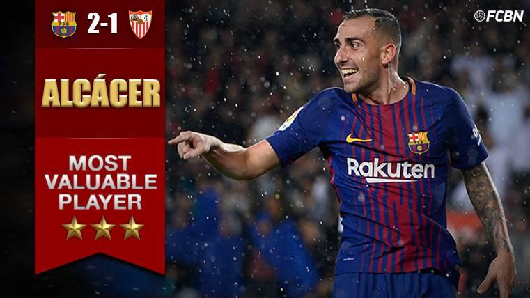 Paco Alcácer, el indiscutible MVP del FC Barcelona-Sevilla