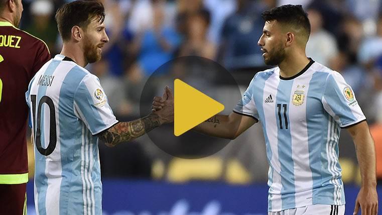 El detalle de Leo Messi en una felicitación al Kun Agüero