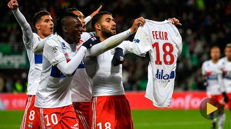 Fekir se marca un Messi y suspende un duelo siete minutos