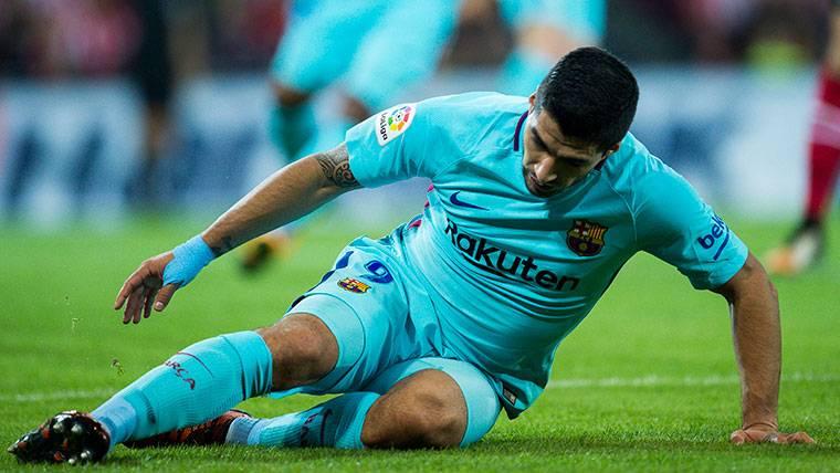 Luis Suárez, tras una ocasión desaprovechada con el FC Barcelona