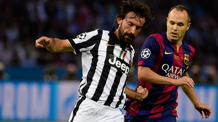 Andrés Iniesta también se rinde a la magia de Andrea Pirlo