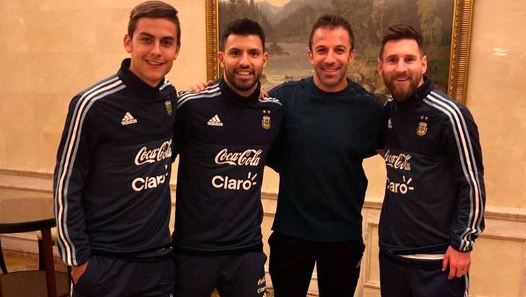 Messi, Agüero y Dybala animan el cumpleaños de Del Piero