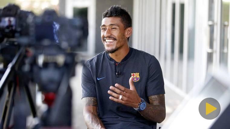 Paulinho en una entrevista con el FC Barcelona
