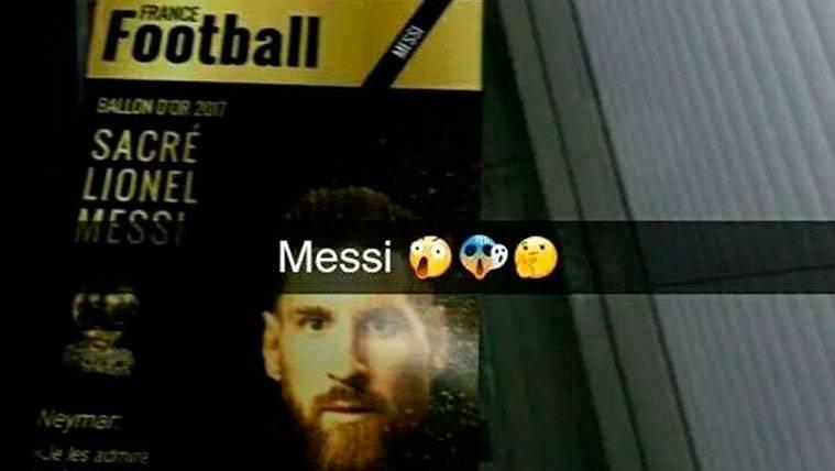 La presunta portada de France Football sobre Leo Messi