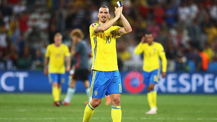 Zlatan Ibrahimovic, cuando se retiró de la selección de Suecia