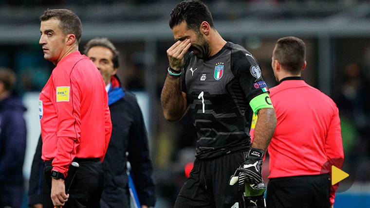 Gianluigi Buffon, entre lágrimas tras la eliminación de Italia