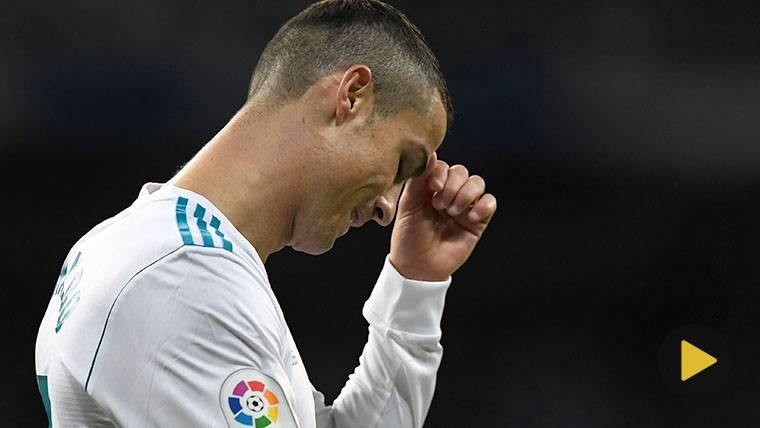 Cristiano Ronaldo, durante un partido con el Real Madrid esta temporada