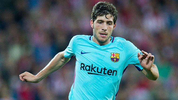 Sergi Roberto, durante un partido esta temporada con el FC Barcelona