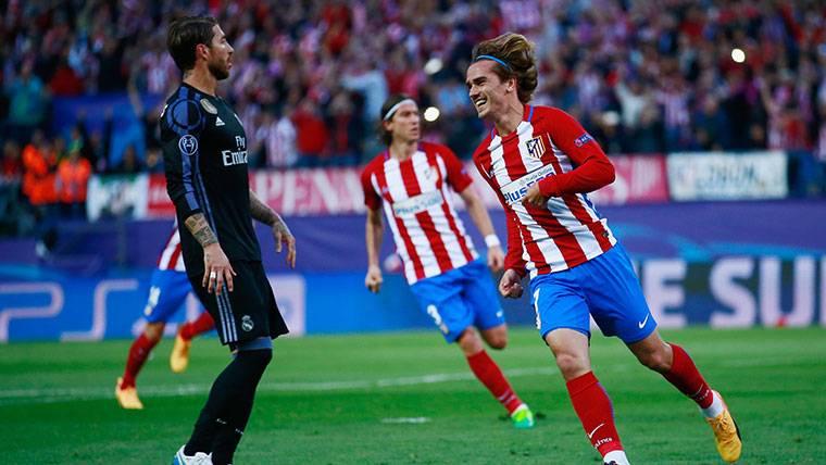 Griezmann, celebrando un gol marcado al Real Madrid