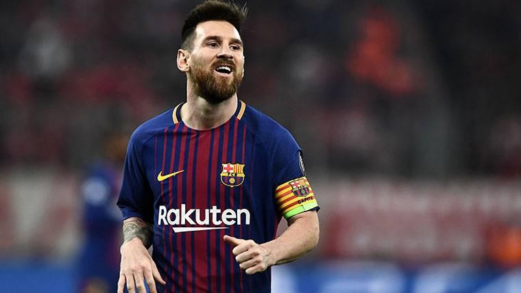 Leo Messi, durante un partido con el FC Barcelona esta temporada