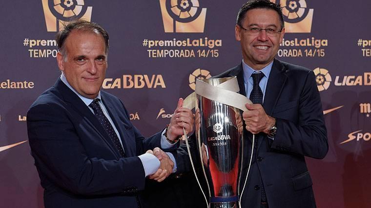 Javier Tebas y Josep Maria Bartomeu, en una imagen de archivo