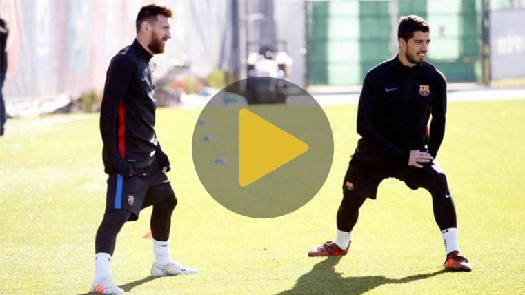 Messi y Rakitic, de vuelta a los entrenamientos del Barça