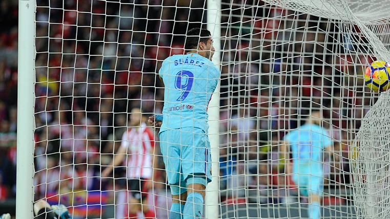 Luis Suárez se reencuentra con el gol en una jugada de 'pillo'